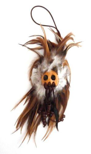 Hawaiian Feathered Ikaika War Helmet - Brown and White