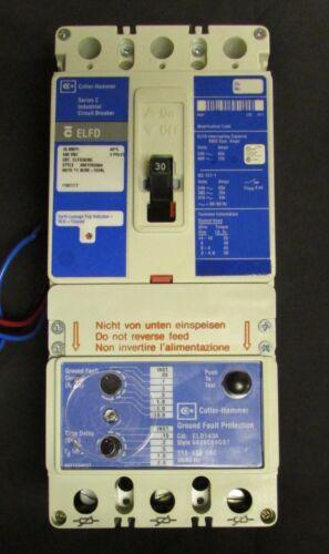 CUTLER HAMMER ELFD3030L Type ELFD Earth Leakage Circuit Breaker 30A 3P ELFD3030
