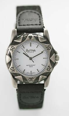 Activa Unisex Watch Stainless Steel Silver Water Resist 30m Battery White Quartz