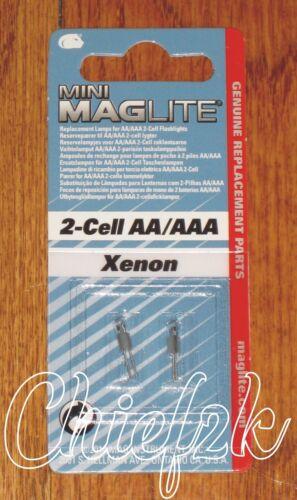 Maglite 2 Cell AA / AAA Mini-Mag Xenon Bulbs Maglight 2 Cell AAA 2 Cell AA