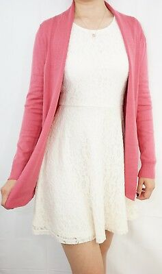 Women Lightweight Thin Draped Cardigan Soft Knitted Sweater Open Front