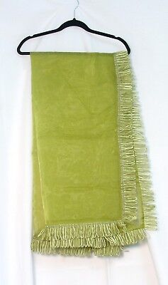 Lime Green VOILE TABLE CLOTH / Scarf with fancy trim 100% Polyester 54