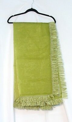 Fancy Table Cloth (Lime Green VOILE TABLE CLOTH / Scarf with fancy trim 100% Polyester 54