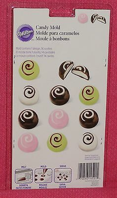 Truffles, Bon Bon Chocolate Candy Mold,Wilton,Clear,Plastic,2115-1512
