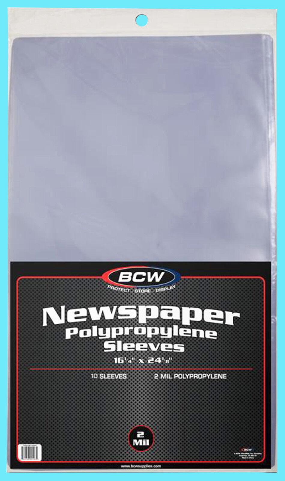 10 BCW 16X24 NEWSPAPER STORAGE SLEEVES 2 MIL Art Photo Print 16-1/4