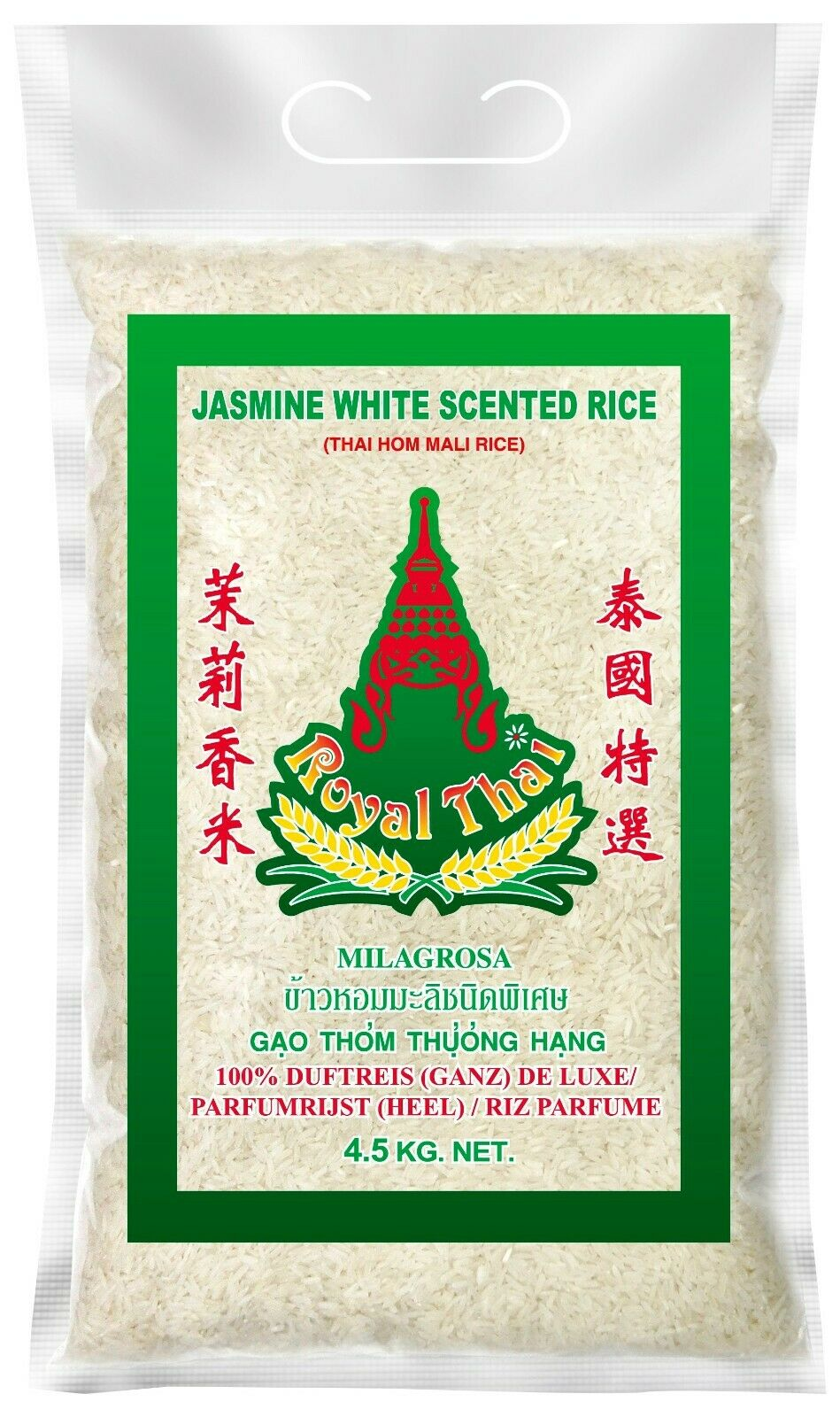4,5kg Bigpack Royal Thai Langkorn Duftreis Jasminreis Reis aus Thailand
