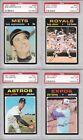 Topps 1971s Grade 8 Professional Sports PSA Baseball Cards