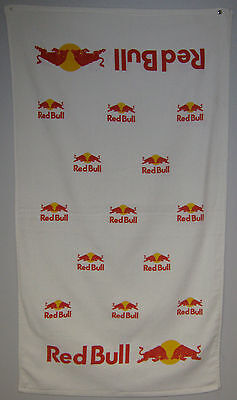 "Lot of 2 Offical Red Bull Towels Printed Both Sides - 24""x42"" Velour Towel"