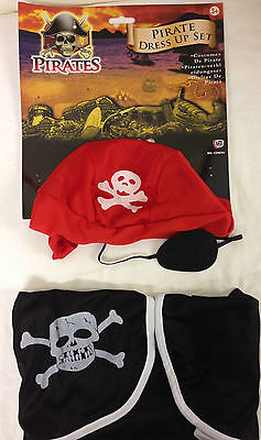 KIDS PIRATE FANCY DRESS COSTUME - PIRATE DRESSING UP OUTFIT FOR 3-5 - Pirates Outfits For Kids