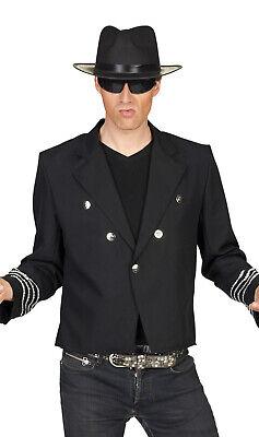 Kostüm schwarze Jacke Herren Udo Schlagerstar Rocker Bühne Michael Show - Rocker Kostüm