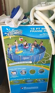 SUMMER ESCAPES 15FT METAL FRAME POOL Bullsbrook Swan Area Preview
