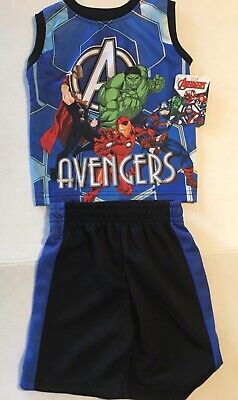 Captain America 2 Outfit (Boys Avengers 2 Piece Outfit New Toddler 2T Iron Man Captain America Hulk)