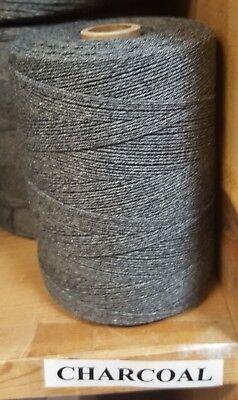 Rug Warp - Single 1/2 lb Tube - 8/4 Cotton / Polyester Blend- Color Charcoal
