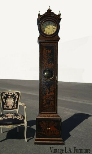Vintage Oriental Asian Maitland Smith Long Case Grandfather Clock w Chimes