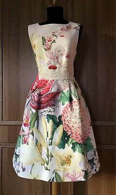 "New With Tags TED BAKER ""Gemisa Encyclopedia"" Dress - Size 5 (UK16/US12)"
