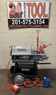 Ridgid 1224 Pipe Threading Machine 12 - 4 W 3 Die Heads 711 714 300 26092 1