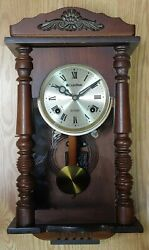Vintage Carillon 31 Day Strike Mini Wall Clock with Strikes made in Korea