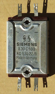 Vintage Siemens Selenium Bridge Rectifier B30c600 For Fisher 500c Tube Others