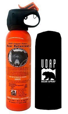 UDAP 30ft 7.9oz Bear Pepper Spray/Repellant/Deterrent w/ Holster - 12VHP