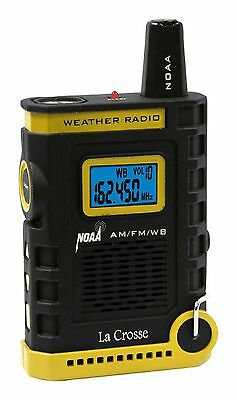 810 805 La Crosse Handheld Am Fm Weather Band Noaa Weather Radio Nib