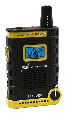 810 805 La Crosse Handheld Am Fm Weather Band Noaa Weather Radio Nib