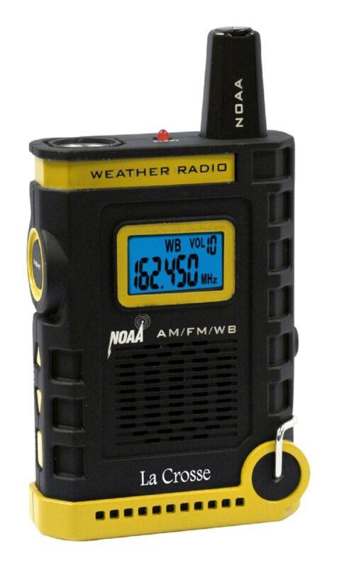810-805 La Crosse Handheld AM/FM/Weather Band NOAA Weather Radio LED Refurbished