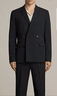 All Saints Men's Black Medley Blazer Jacket Size 36 BRAND NEW WITH TAGS