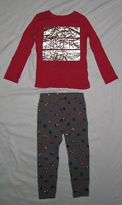 Toddler Girls CHILDRENS PLACE Best Sister & WONDERKIDS Leggings Outfit size