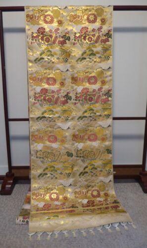 #79 Japanese Maru Obi Fabric, Flat Piece