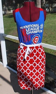 Chicago Cubs Tank Dress Upcycled T-Shirts Small