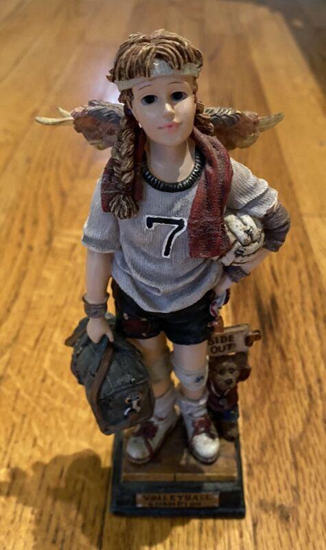 Boyds Bear & Friends Folkstones Heather Chris Angel Volleyball 2E Figurine 28210