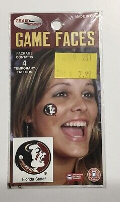 Florida State Seminoles Game Face Temporary Tattoos