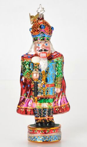 Christopher Radko His Excellency Nutcracker Ornament 1011590 with Clip