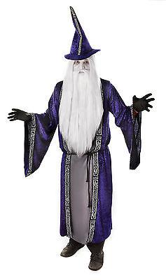 Fancy Dress Adults Wizard Wizards Robe Cape Halloween - Gandalf Robe