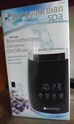 Deluxe Aromatherapy Ultrasonic Oil Diffuser & Alarm Clock - Cool Mist - Oil Incl