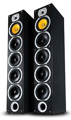 Paar 4-Wege HiFi Home Cinema Stand Lautsprecher Bass Subwoofer Boxen Set 880W