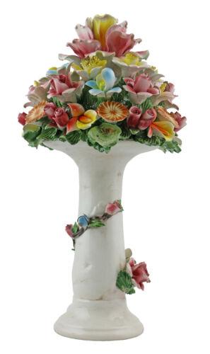Authentic Handmade Italian Capodimonte Pillar Flower Bouquet Stand