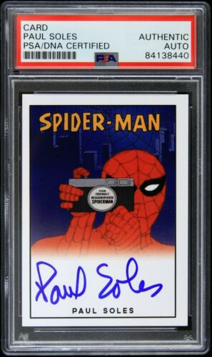 2016 Paul Soles Spider-Man Signed Trading Card (PSA/DNA Slabbed)