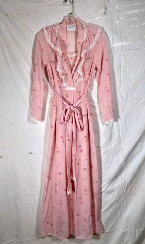 Vintage 1970s Peignoir Nightgown Robe Set Ralph Montenero Blanche Lord & Taylor