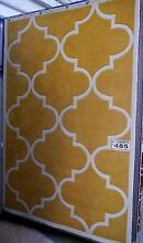 New Large Moroccan Geometric Plush Poly Mustard White Rugs Melbourne CBD Melbourne City Preview