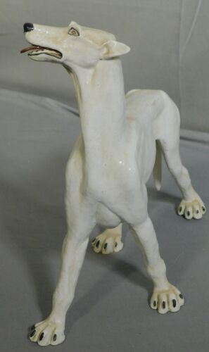 Vintage 1970 John Blair Indiana Art Ceramic Sculpture Statue Powerful GREAT DANE