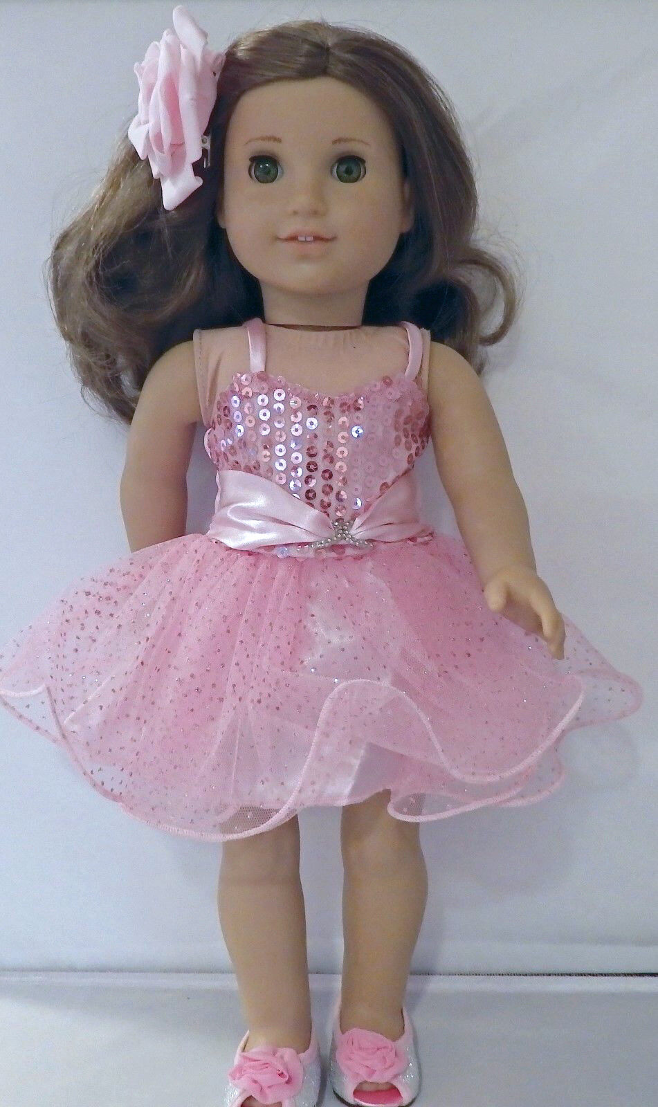 Where's the Party? Pink Dress 2pc Set Fits 18 inch American