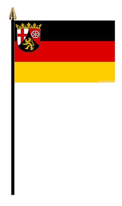"RHEINLAND PFALZ GERMAN PACK OF 12 SMALL HAND FLAGS flag 6""x4"" GERMANY"