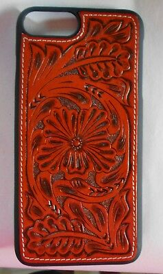 WESTERN FLORAL TOOLED CELL PHONE SKIN IPHONE 8 PLUS COWBOY COWGIRL ACCESSORY