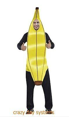 NEW BANANA ONE PIECE FOAM COSTUME ONE SIZE HALLOWEEN  MEN'S  - Banana Man Costume