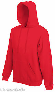 FRUIT OF THE LOOM HOODED TOP HOODIE 17 COLOURS S - XXL
