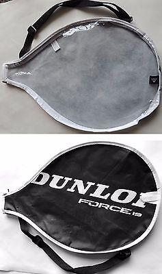 Dunlop Force 19 Tennis Racket Cover Bag 40.5x27cm Black