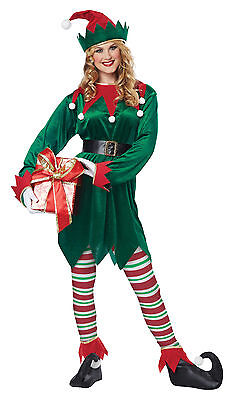 Christmas Elf Santa Claus Helper Adult Uni-sex Costume - Womans Santa Costume