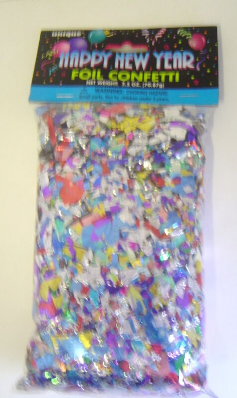 Multi-colored Foil Confetti ~ 2.5 oz bag ~ Party  ~ New Years ~ Shower ~ Bridal