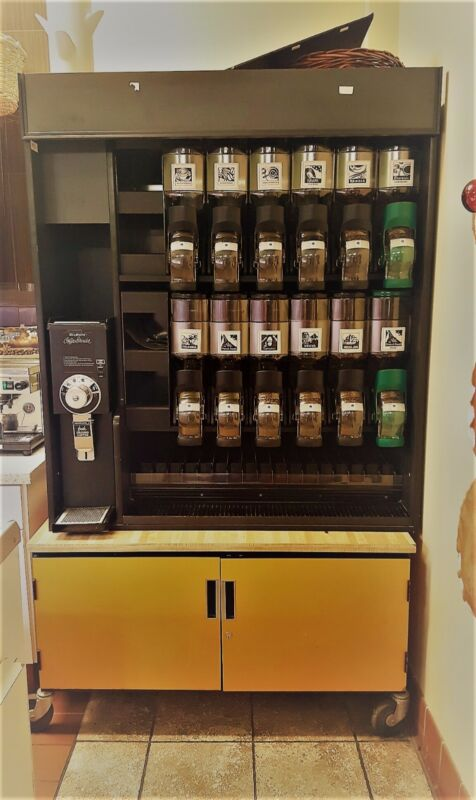 Retail Coffee beans display including bottom table (No Coffee)